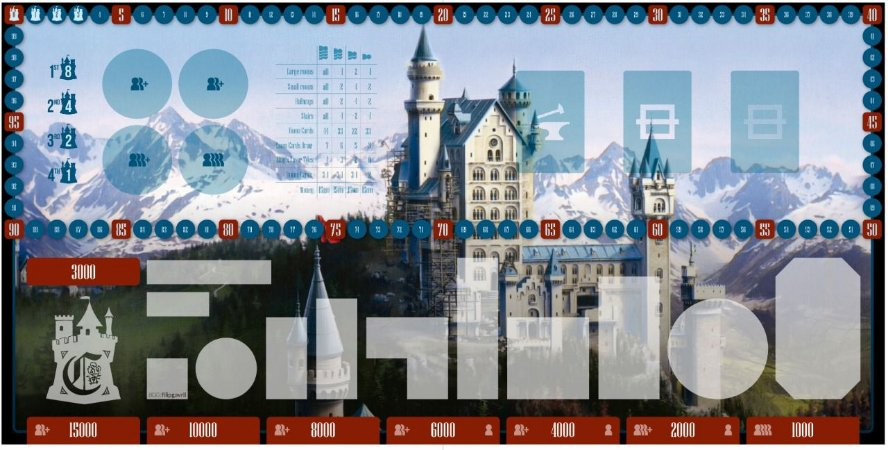 Playmat para Castles of Mad King Ludwig