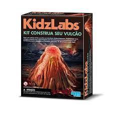 Kit Construa Seu Vulcão - Brinquedo Educativo