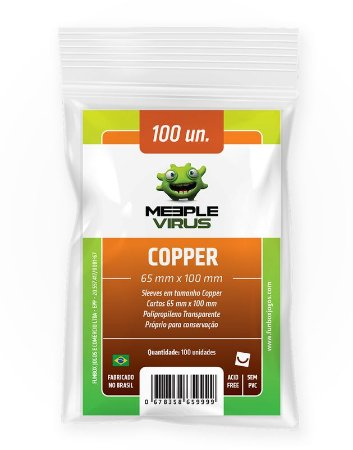 Sleeves Meeple Virus Copper (65 x 100mm)