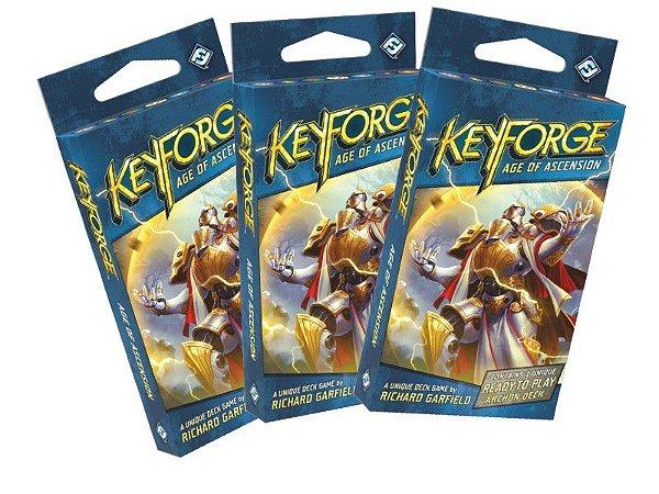 Keyforge - A Era da Ascensão Kit com 3 Decks Grátis Sleeves !