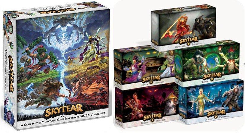 Skytear - Jogo Base + 5 Expansões + 4 Miniaturas de Torres Exclusivas
