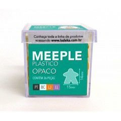 Meeple Plástico Opaco 36 Peças (Preto, Branco, Laranja e Lilás)