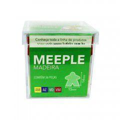 Meeple Madeira 36 Peças (Amarelo, Azul, Verde e Vermelho)