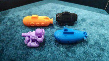 Miniaturas de Submarinos 3D - Cidade Submersa