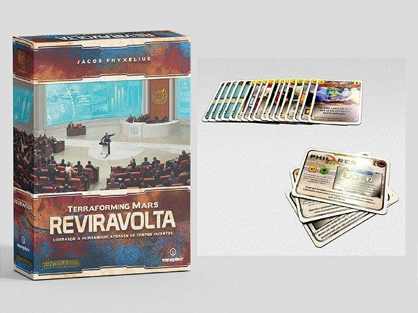 Terraforming Mars Reviravolta (Turmoil) - Expansão + Kit com 20 Cartas Extras