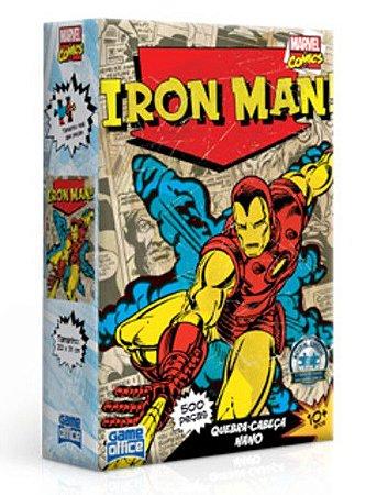 Iron Man - Quebra-Cabeça Nano - 500 Peças