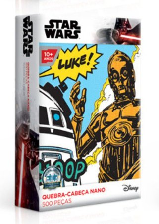 Star Wars - R2D2 e C3PO - Quebra-Cabeças Nano 500 Peças