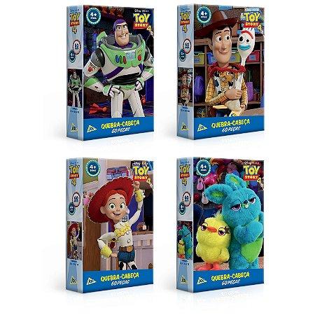 Combo 4 Quebra-cabeças Toy Story 4