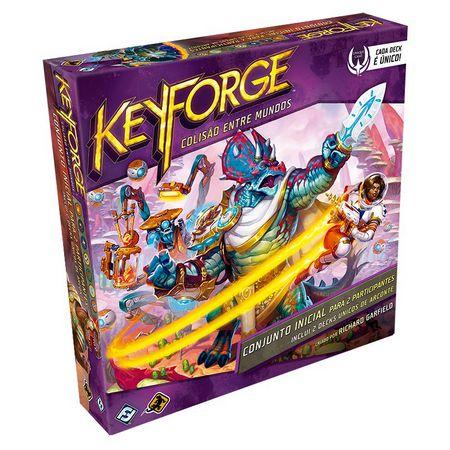 Keyforge Colisão entre Mundos - Caixa Inicial para 2 Jogadores