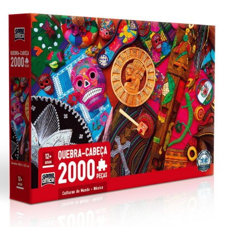 Quebra-cabeça 2000 peças - Culturas do Mundo - México