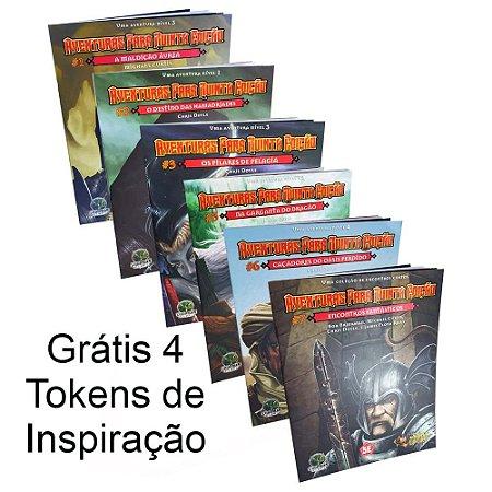 Kit 6 Livros Dungeons & Dragons - Aventuras para Quinta Edição - Grátis 4 Tokens