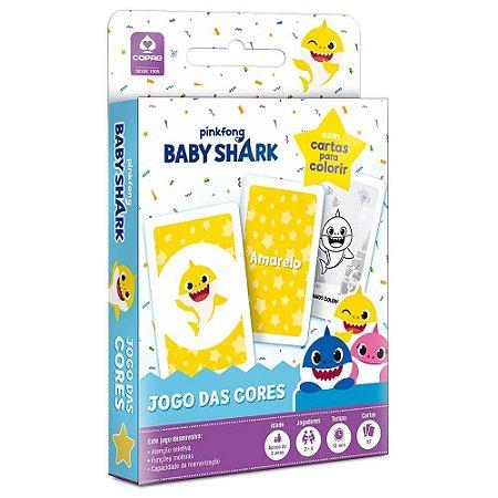 Baby Shark - Jogo das Cores - Com cartas para Colorir