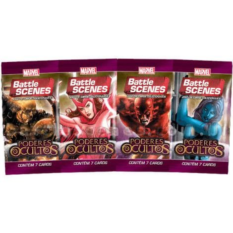 Marvel Battle Scenes - Poderes Ocultos - 4 Boosters