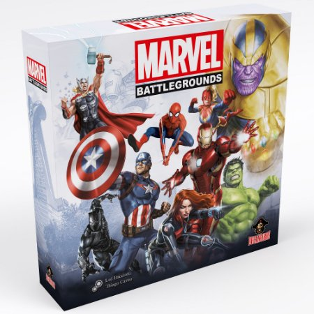 Marvel Battlegrounds + Insert + Sleeves + 1 Mini Marvel 500