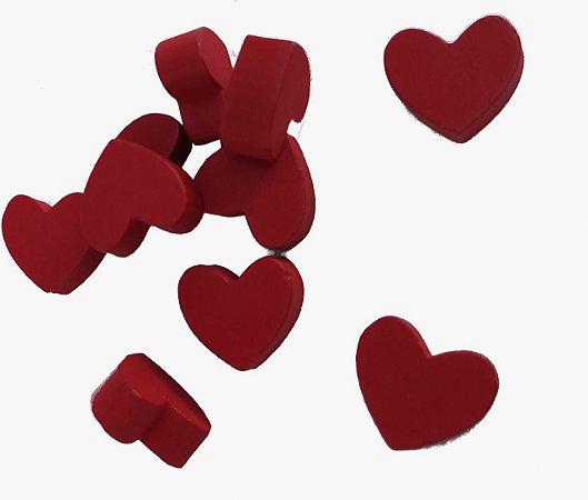 Coração (Peças em Madeira) - Kit com 5 Unidades
