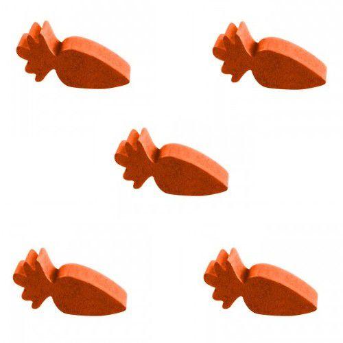 Cenoura (Peça de Madeira) Kit com 5 Unidades