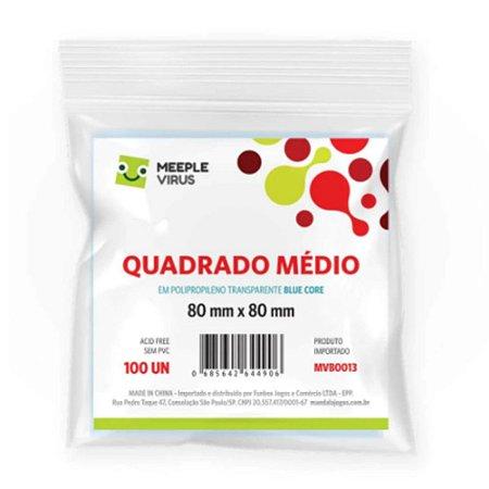 Sleeves Meeple Virus Blue Core Quadrado Médio (80x80mm)