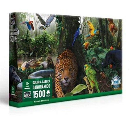 Quebra-Cabeça Panorâmico 1500 Peças - Floresta Amazônica