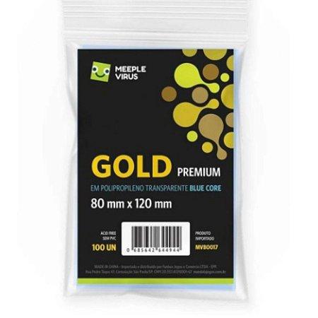 Sleeves Meeple Virus Blue Core Gold Premium (80x120mm)