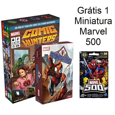 Comic Hunters + Spider-Web + Miniatura Marvel 500