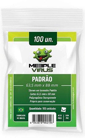 Sleeves Meeple Vírus Padrão (63,5 x 88mm)