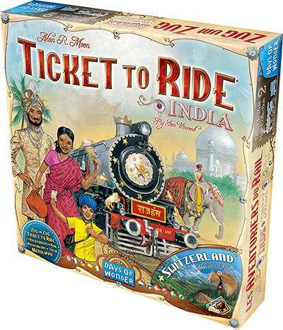 Ticket to Ride Índia e Suíça (Expansão)