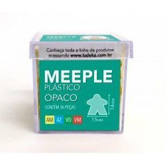 Meeple Plástico Opaco 36 Peças (Amarelo, Azul, Verde e Vermelho)