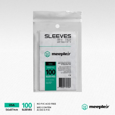 Sleeves MeepleBR Slim USA 56 x 87 mm