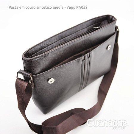 e5f9f603a Pasta Carteiro Média - Unissex - PA052 - Marrom Café - Guanacos revenda