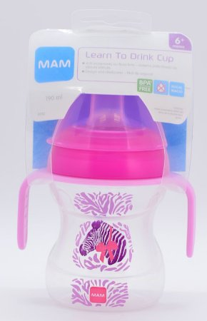 Copo MAM Learn To Drink Cup Rosa 6+ meses