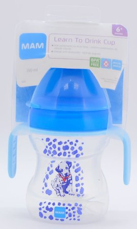 Copo MAM Learn To Drink Cup Azul 6+ meses