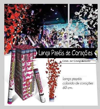 Lança Papel Colorido de Corações 60 cm