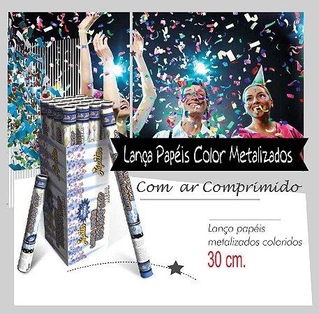 Lança Papeis Metalizados Coloridos 30 cm