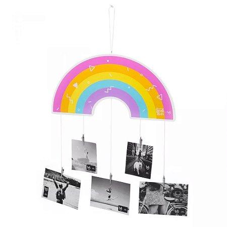 Móbile de fotos arco - íris TACIELE