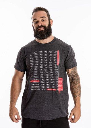 T-Shirt Casal Wod - CAÇA PALAVRAS - Grafite