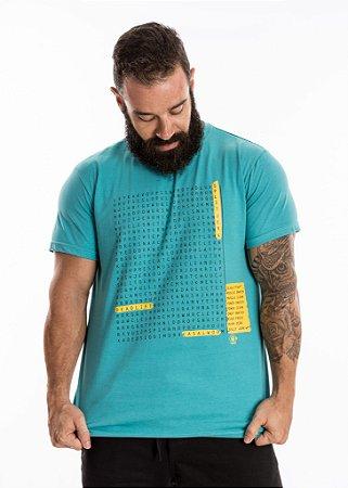 T-Shirt Casal Wod - CAÇA PALAVRAS - Azul