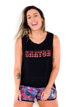 Blusa Cropped Crossfit - SNATCH (Preto)