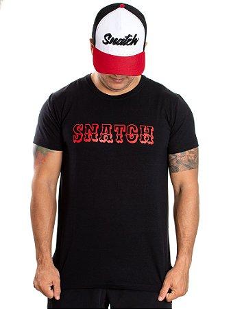 T-Shirt Casal Wod - SNATCH - Preta