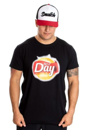 T-Shirt Casal Wod - REST DAY - Preta