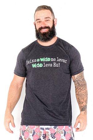T-Shirt Casal Wod - DEIXA O WOD ME LEVAR (Preta)