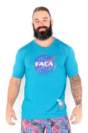 Camisa T-Shirt Casal Wod Crossfit - MENSAGEIRO COACH  (Azul)