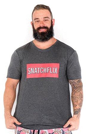 T-shirt Casal Wod Collab Crossfunny - SNATCHFLIX (Cinza)