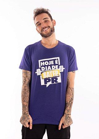 Camisa T-shirt Casal Wod Crossfit - BATER PR  (Roxa)