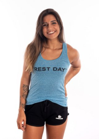 Regata Casal Wod Crossfit - REST DAY  (Azul)