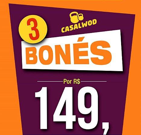 Caixa Surpresa Crossfit -  3 BONÉS - CasalWod