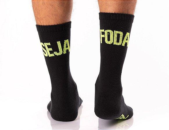 Meia Crossfit - SEJA FODA (Verde Fluorescente)