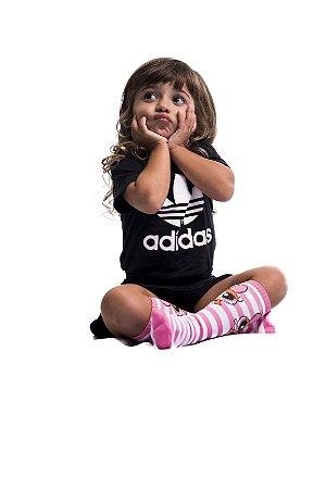 Meia Infantil - FLORZINHA (Rosa)