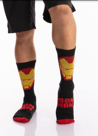 Meia Crossfit - Homem de Ferro (Vermelho)
