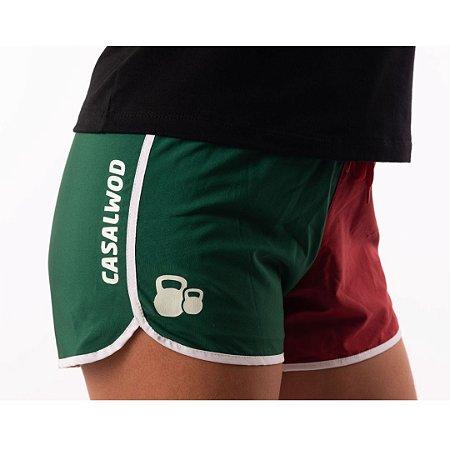 Short Casal Wod - As cores que herdei verde, branco e grená