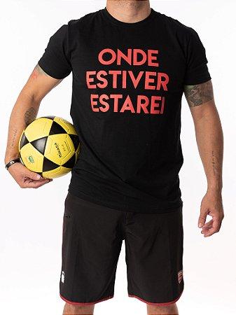 Camisa T-shirt Casal Wod - ONDE ESTIVER ESTAREI (PRETO)